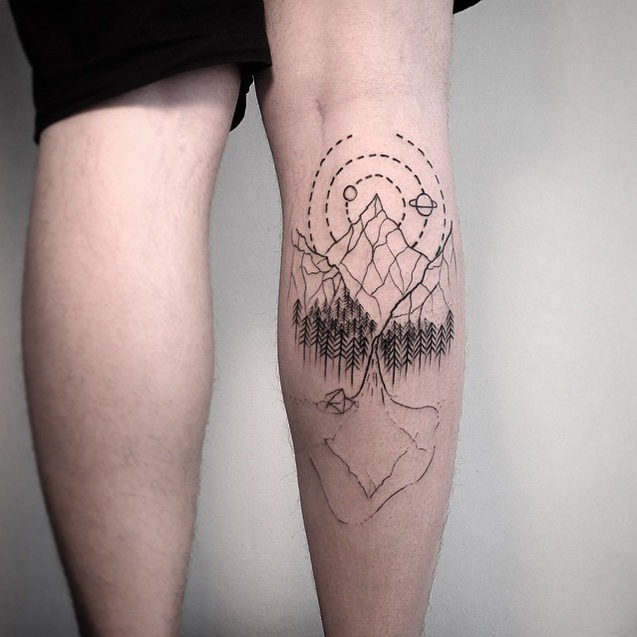 Real Planet Tattoo Design Drawings