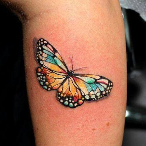Schmetterling am Bein