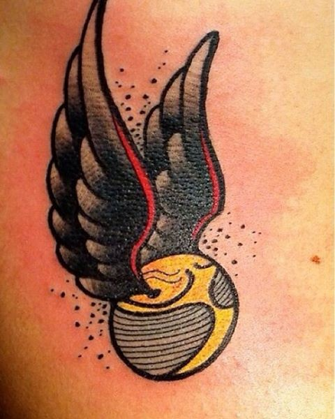 Quidditch ball tattoo