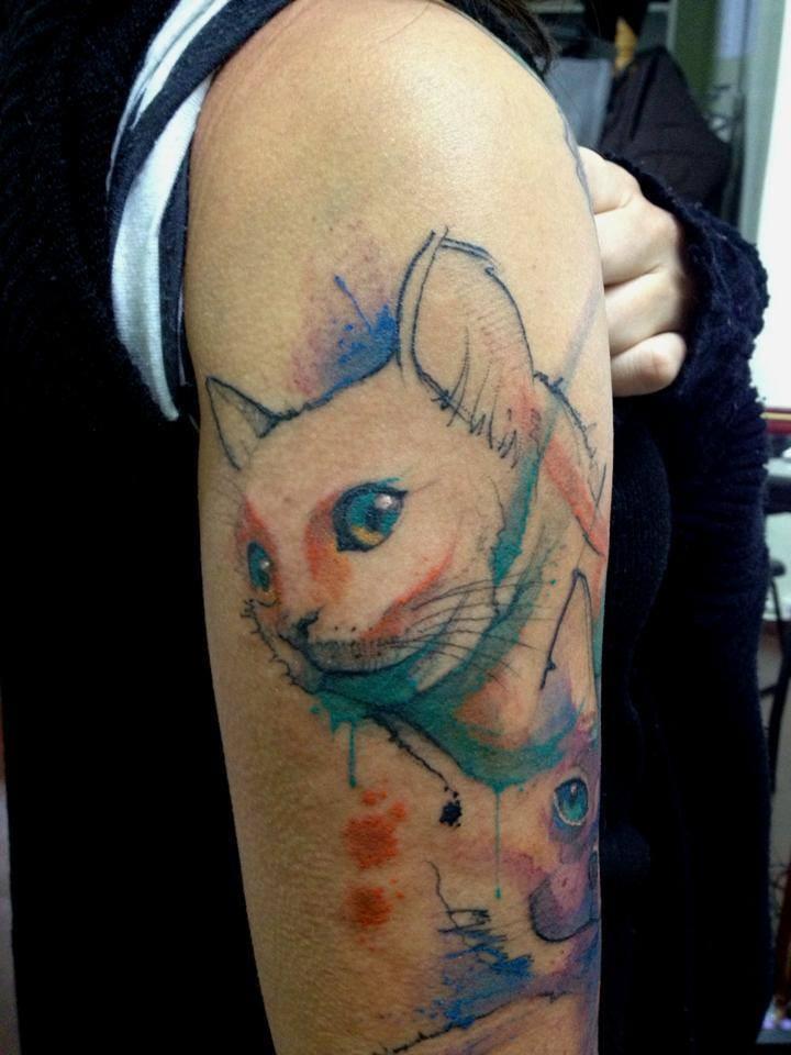 Super cat set part 5 for Watercolor cat tattoo