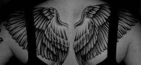Smale Back Tattoo Wings