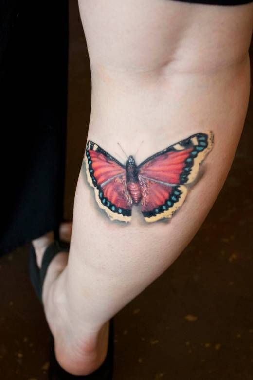 Color butterfly on leg