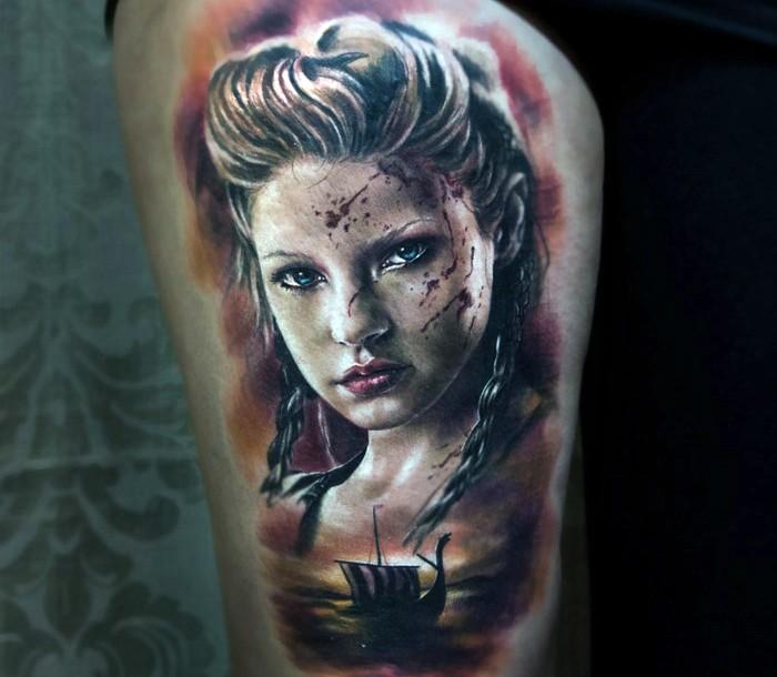 Viking Woman Warrior Tattoos Pics Download