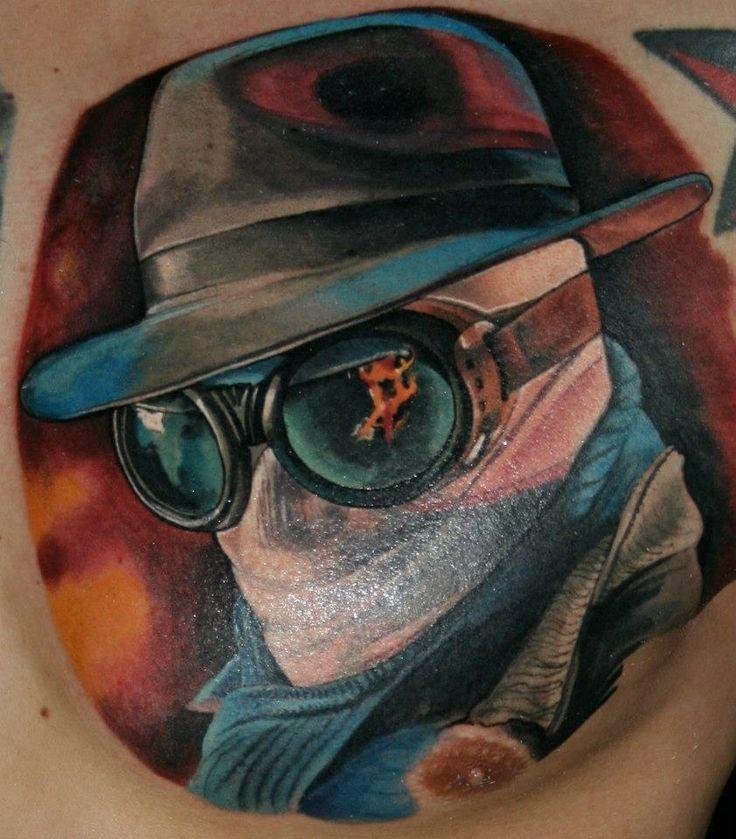 colorato film orrore invisibile uomo  tatuaggio