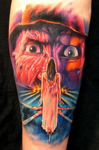 colorato nightmare da elm strit 3 tatuaggio di Paul Acker