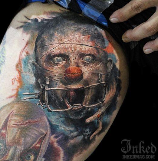 colorato nightmare spaventoso orribile tatuaggio