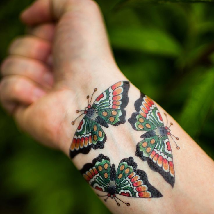 Colorful tattoo butterfly