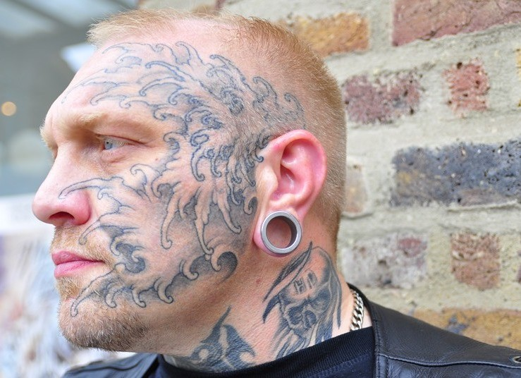 Cool Face Tattoos: Cool Face Tattoo For Men