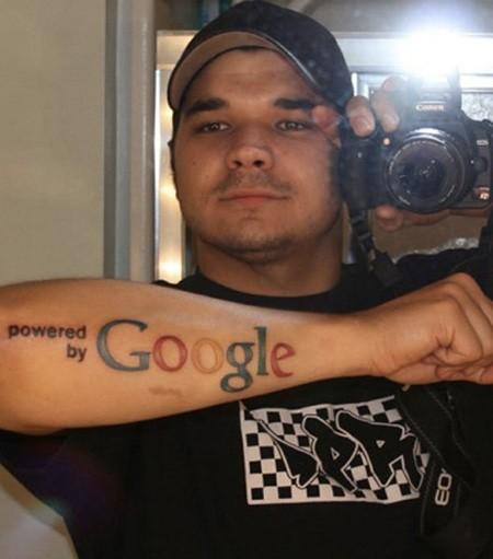Cool google symbol geek forearm tattoo - Tattooimages.biz