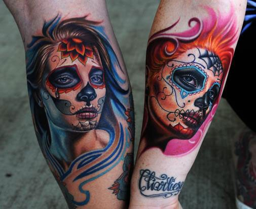 Cool idea of santa muerte tattoo for men and girls