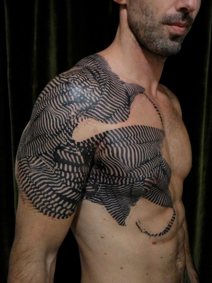 Cool idea of shoulder tattoo for men