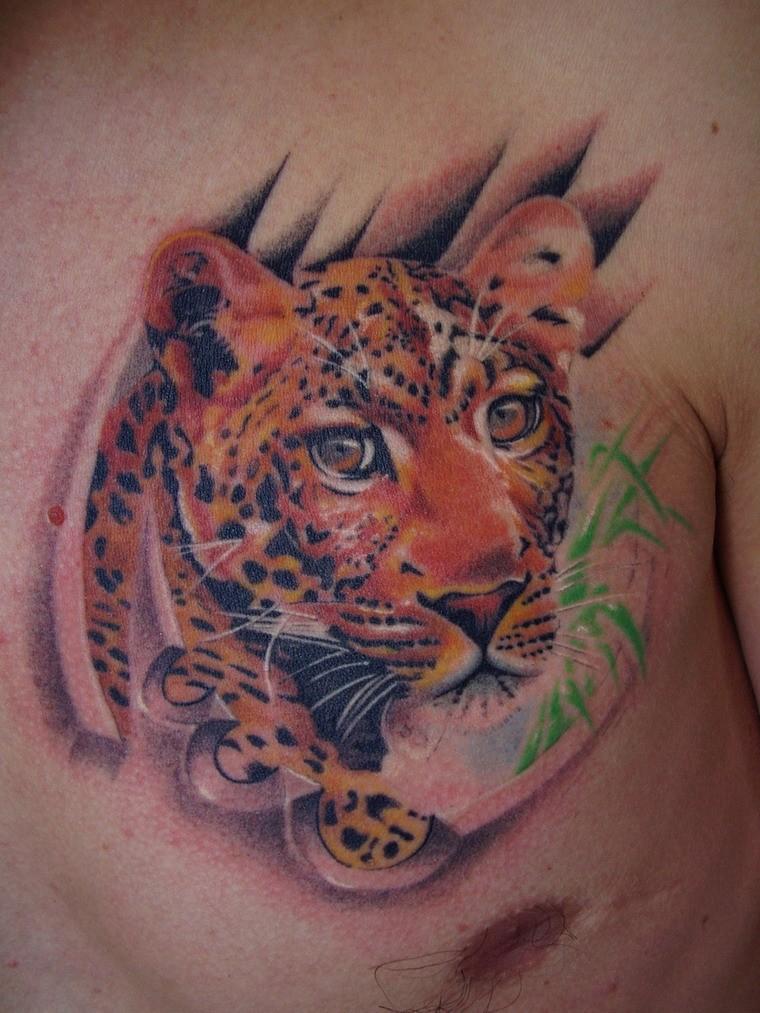 Cool ink jaguar tattoo for mans