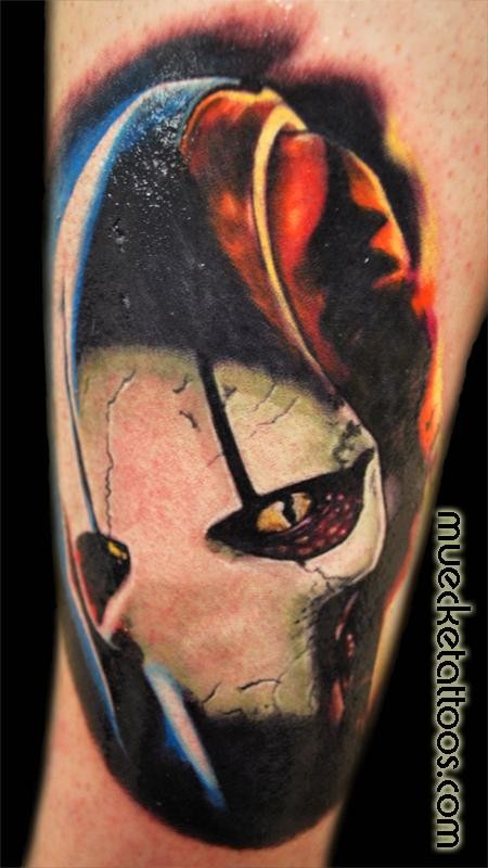 Cool looking colored tattoo of Star Wars droid General