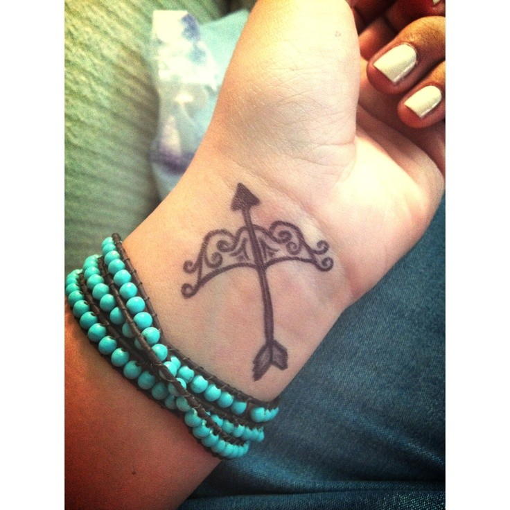 Cute bow and arrow tattoo for Cute bow tattoos