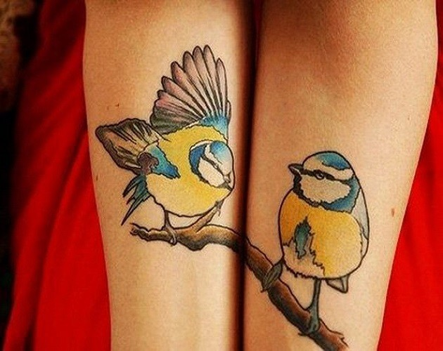 Cute friendship tattoos on hands