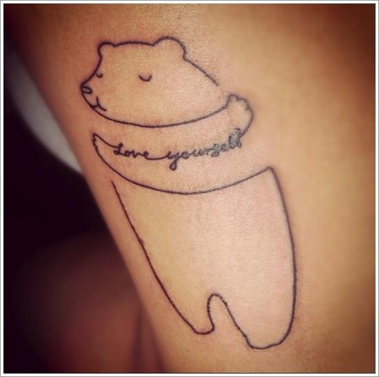 Tatuaggio semplice l&quotorsetto