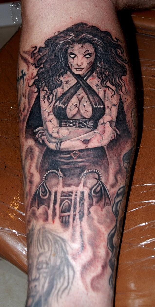 bdcb08965d47a Demon lady tattoo by fiesta - Tattooimages.biz