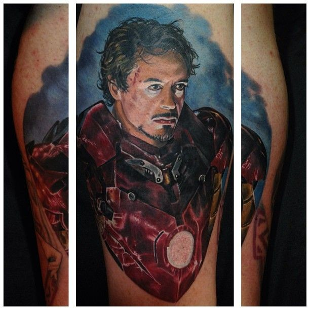 Detailed and colored illustrative Iron man