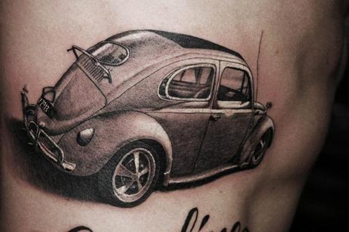 dettagliata retro macchina tatuaggio