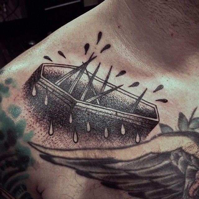 Engraving style black ink tattoo of crayfish