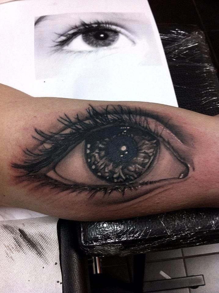 Eyeball tattoo