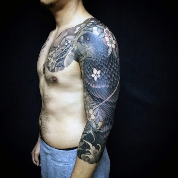 Men tattoo asian japanese sleeve group sex tube