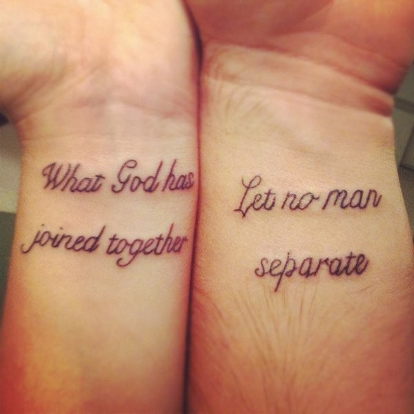 Friendship matching quote tattoos