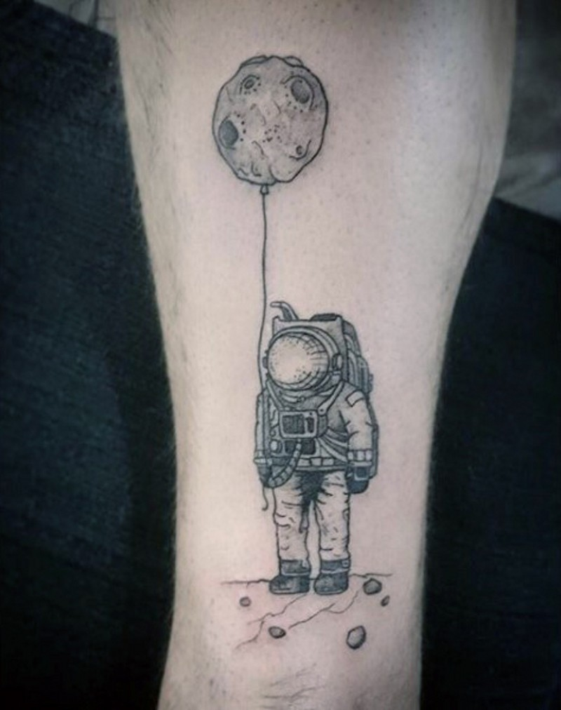 black and white planets tattoo - photo #16