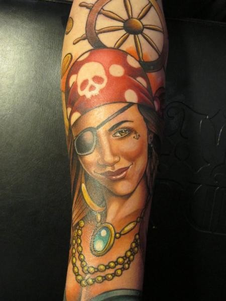Girl Pirate With An Eye Patch By Sam Clark