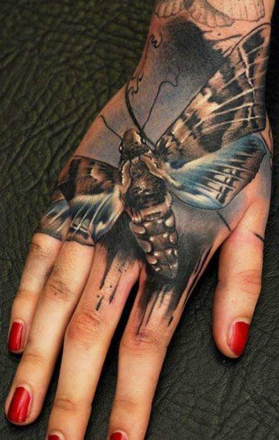 truce testa di morto tatuaggio sulla mano