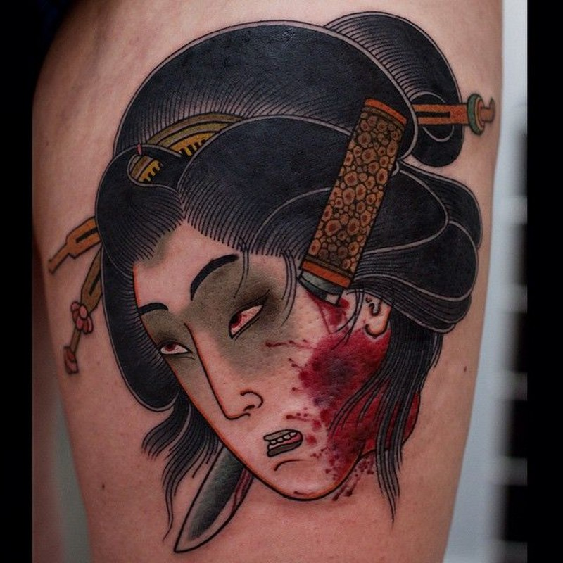 Excellent horror ideas part 10 for Asian face tattoos