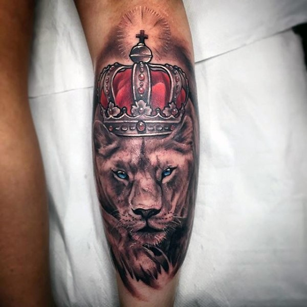 67 Most Powerful Crown Tattoos For Men: Great King Pictures