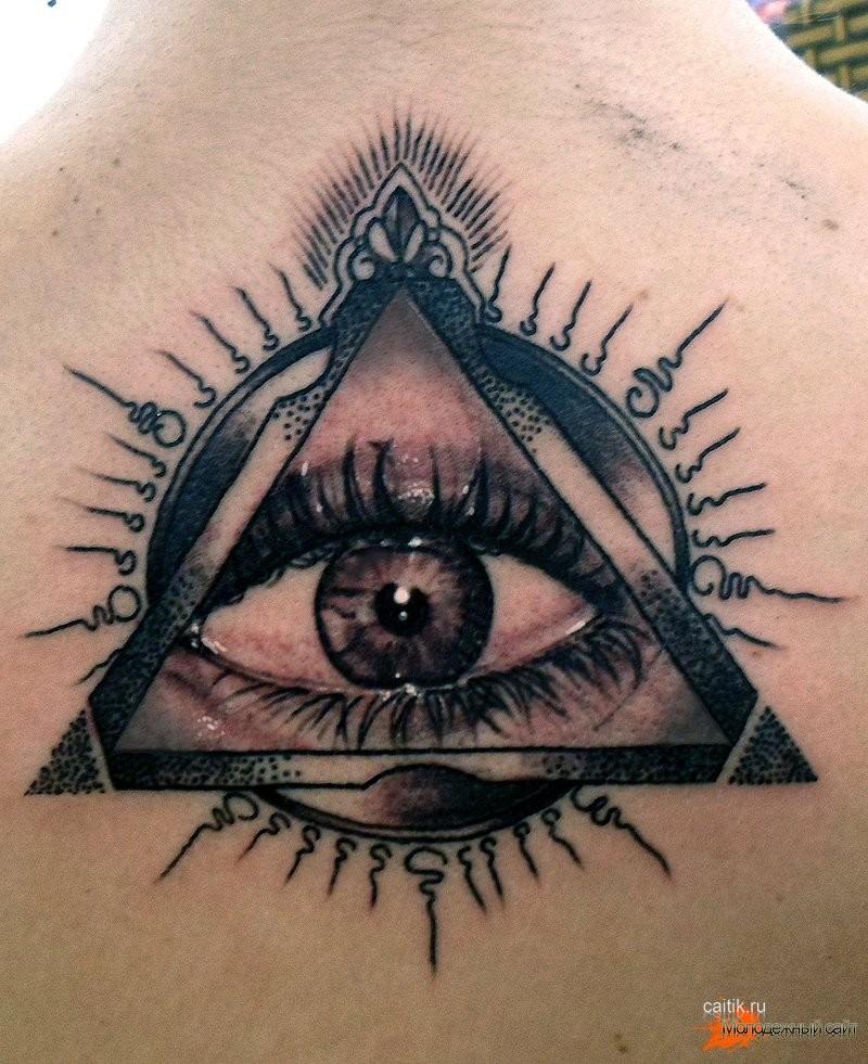 Тату глаз в треугольнике эскиз тату