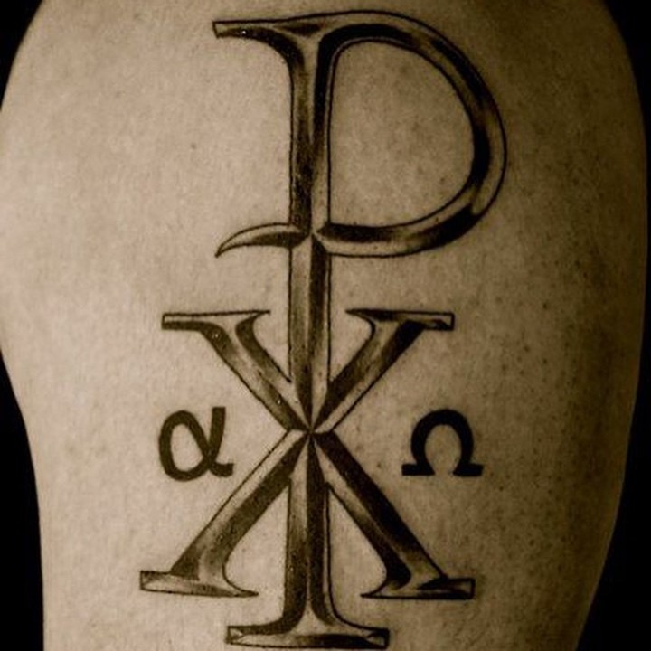 Impressive Volume Religious Chi Rho Special Symbol Tattoo Of Christ