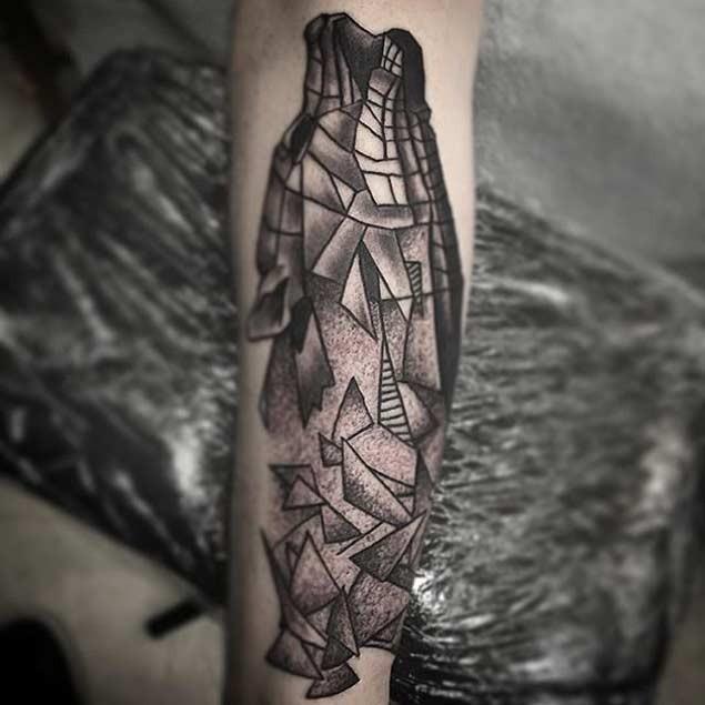 Unglaublicher Geometrischer Wolf Tattoo Am Unterarm Tattooimages Biz