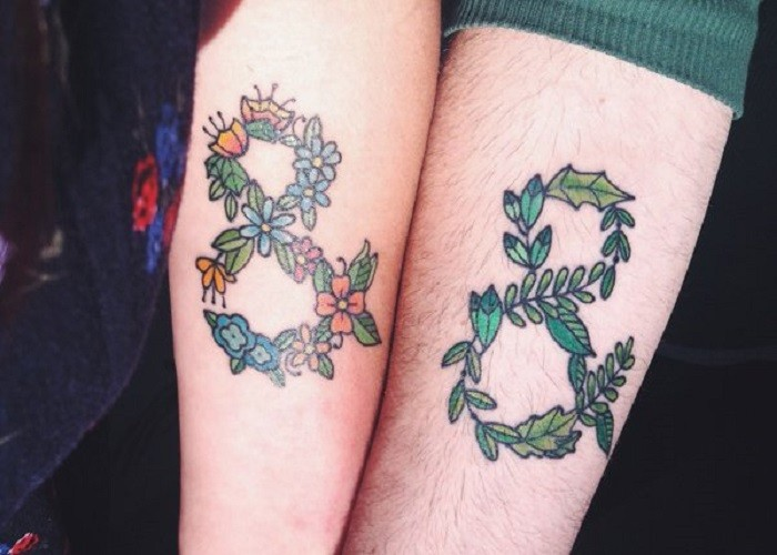 Infinity matching cute friendship tattoos