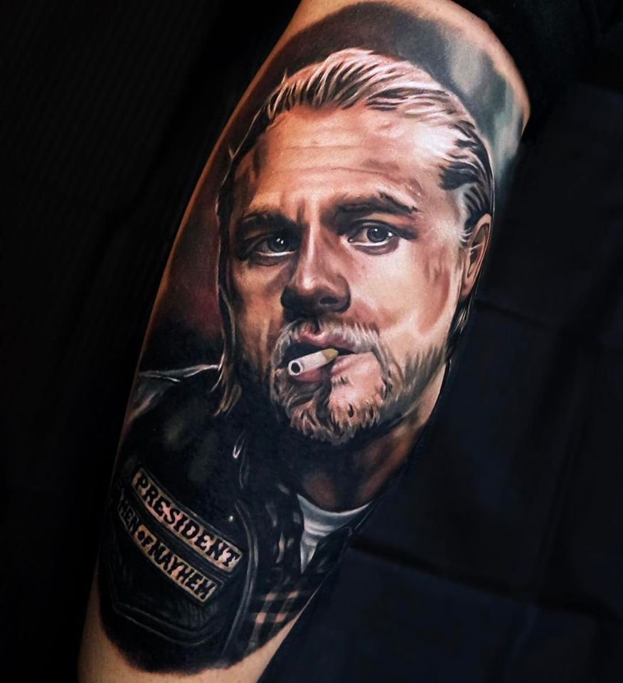 Jax from Sons of Anarchy movie tattoo