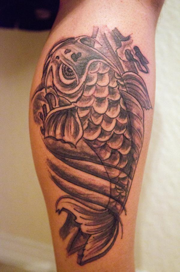 Koi Fish Tattoo On Leg Tattooimages Biz
