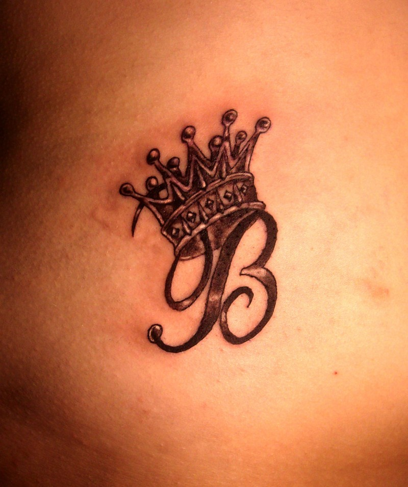Letter b and crown tattoo   Tattooimages.biz