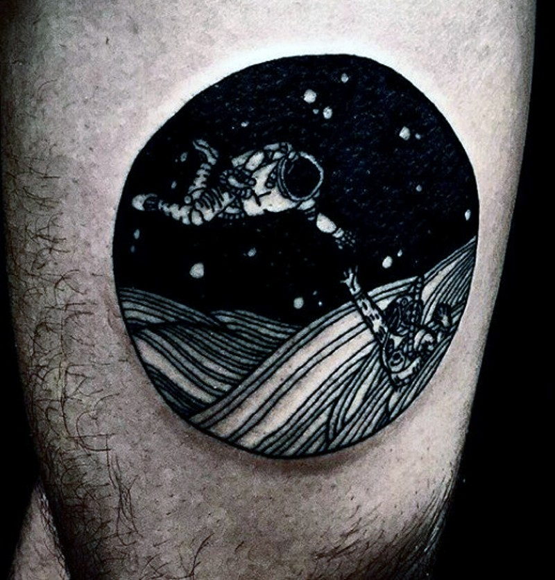 Space Tattoo Designs Black And White Best 25 Negative Space Tattoo