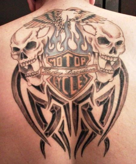 100 harley davidson skull tattoo pictures harley for Tattoo shops in ocala