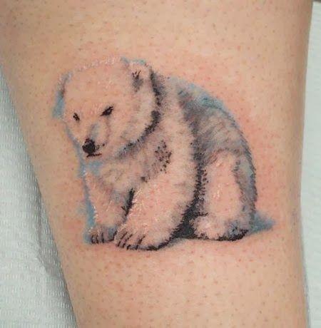 Lovely little polar bear tattoo