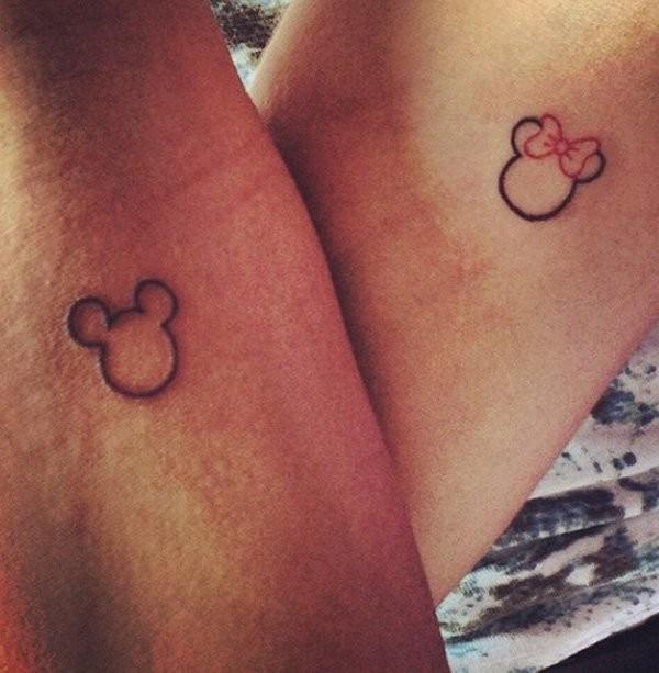 Mickey cute friendship tattoos