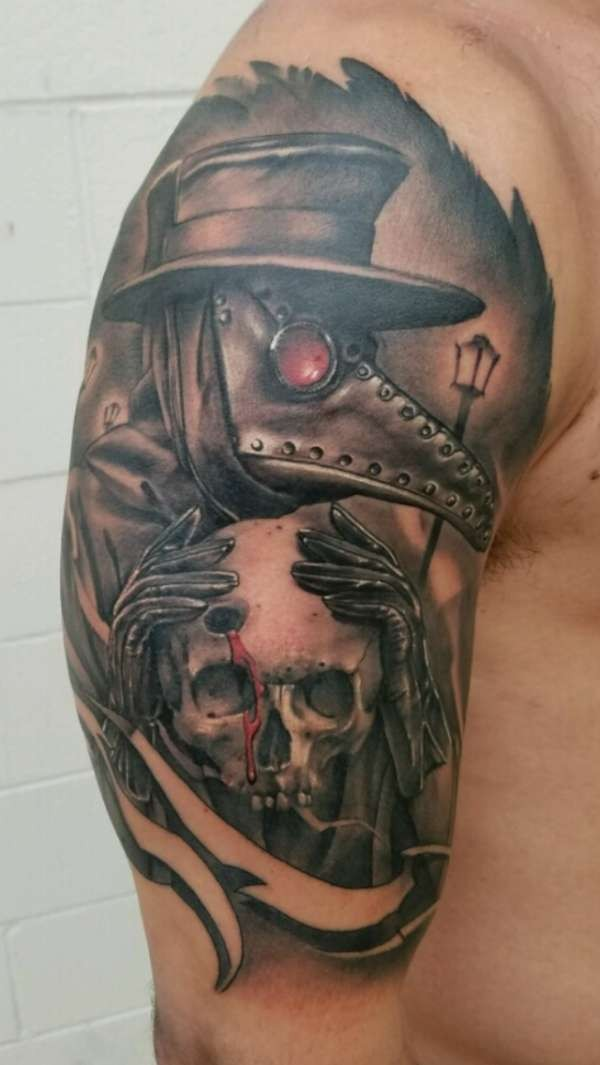 Cool skull disign part 9 for Plague doctor tattoo