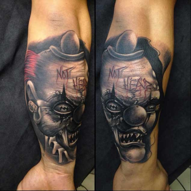 Natural Looking Colored 3D Forearm Tattoo Of Crazy Monster