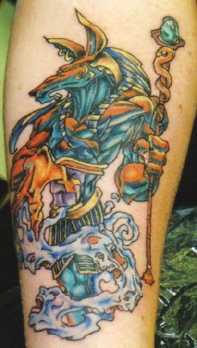 Neu Schule Anubis Tattoo