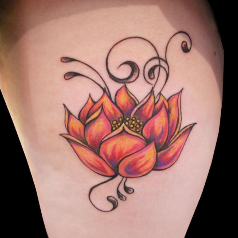 bel loto tatuaggio disegno per le donne