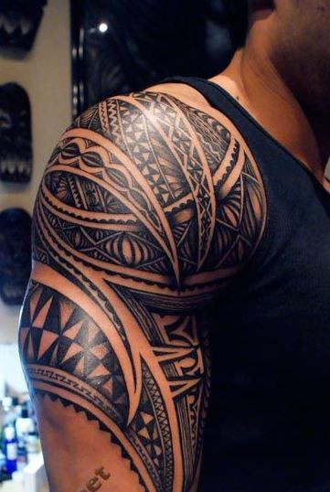 nice maori tattoo on shoulder. Black Bedroom Furniture Sets. Home Design Ideas