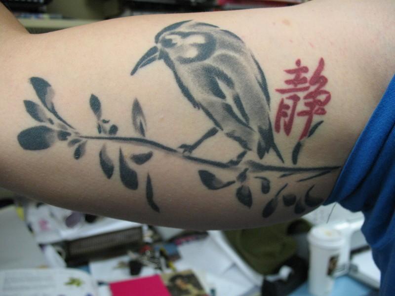 Nice tattoo chinese bird