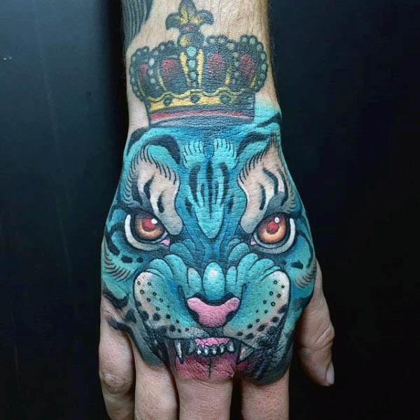 Tiger Crown Tattoo